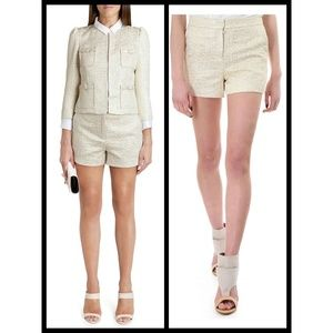 f84272608f30 💕Ted Baker💕 Metallic Gold High-Rise Suit Shorts